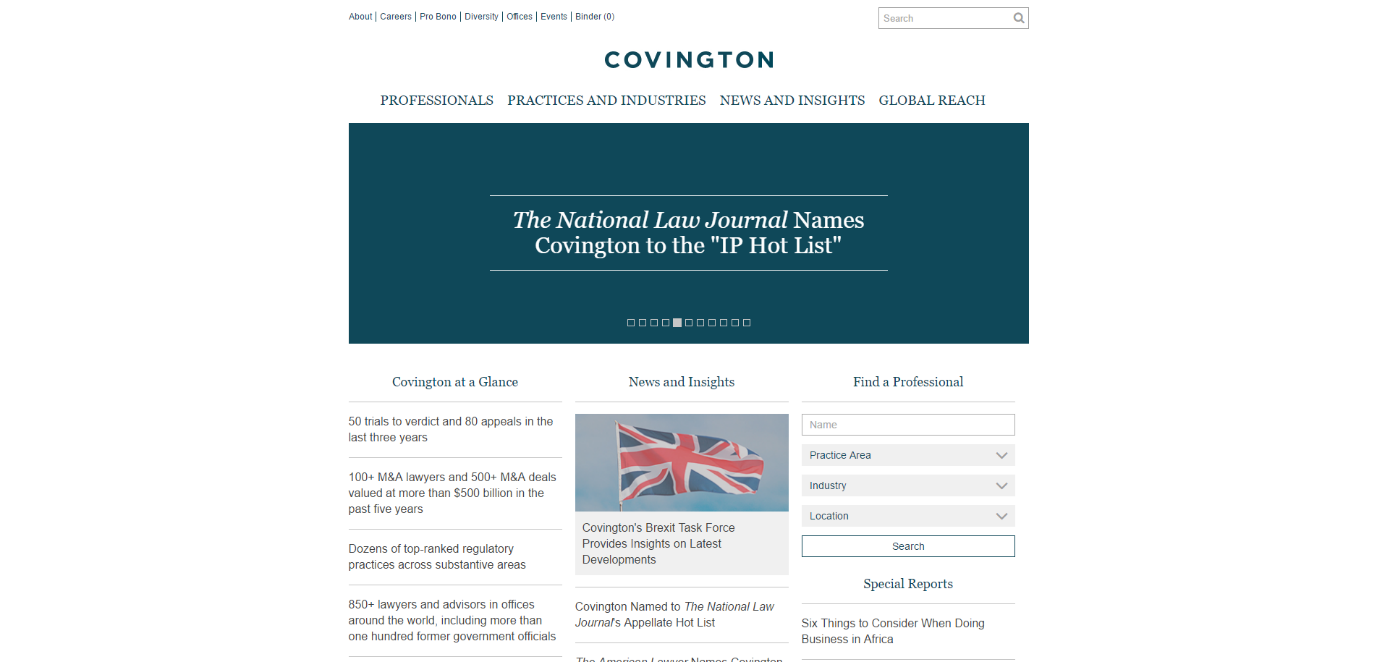 Covington's New responsvie website